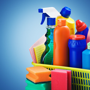Cleaning supplies well organised for commercial cleaning North Melbourne.